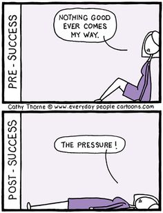 pre and post success